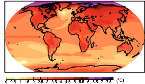 IPCC projection for 2080-99