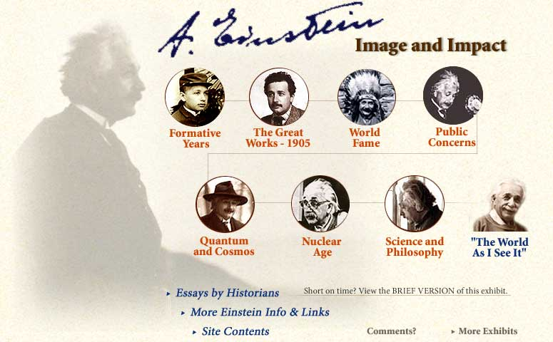 einstein image and impact aip history center exhibit  albert einstein image and impact enter exhibit